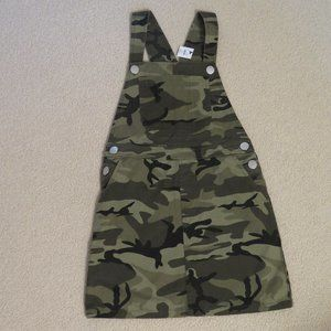 Girls - (10 years) Camouflaged dungarees